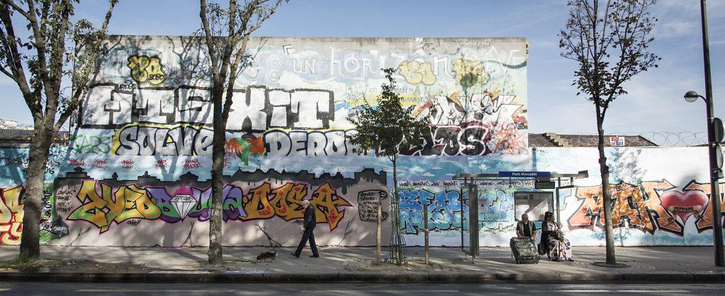 Mur de graff rue Ordener